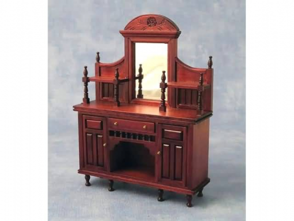 Mahogany 12th scale dolls house sideboard.